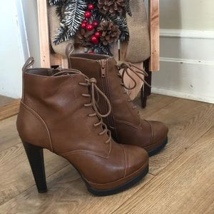 Forever 21 Lace-up Heeled Booties